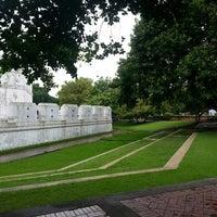 Photo taken at Santichai Prakan Park by Orathai P. on 6/26/2013