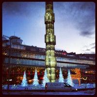 Photo taken at Sergels Torg by Mats Ö. on 12/14/2012