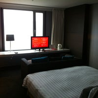 Photo taken at Ramada Seoul Hotel by Nurzhan B. on 4/20/2013
