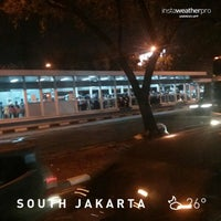 Photo taken at Halte TransJakarta Bunderan Senayan by Nan S. on 11/7/2014