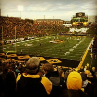 Photo taken at Faurot Field at Memorial Stadium by Katie B. on 10/6/2012