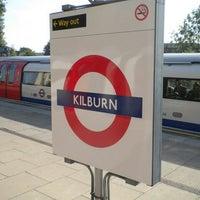 Photo taken at Kilburn London Underground Station by Redha A. on 5/26/2013