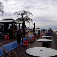 Photo taken at Quiksilver Pro France (Plage des Culs Nus) by Wolle W. on 10/1/2013