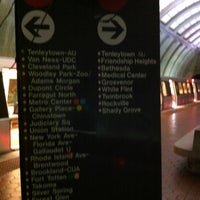 Photo taken at Tenleytown-AU Metro Station by Juan on 10/5/2012