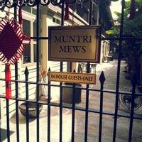 Photo taken at Muntri Mews by Yin C. on 1/26/2013