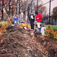 Photo taken at Lower East Side Ecology Center Garden by Joshua W. on 11/12/2013
