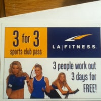 Photo taken at LA Fitness by Osura P. on 1/4/2013