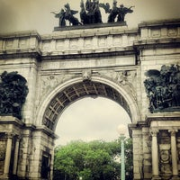 Photo taken at Grand Army Plaza by Suzanne K. on 7/13/2013