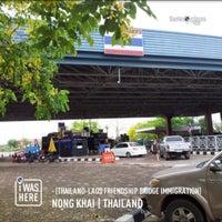 Photo taken at Thailand-Laos Friendship Bridge Immigration by Prithong B. on 4/16/2013