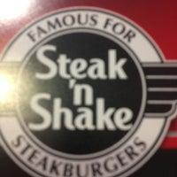 Photo taken at Steak 'n Shake by Jonathan on 3/21/2013