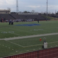 Photo taken at Yager Stadium by Chrissy C. on 4/6/2013