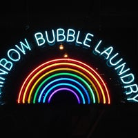 Photo taken at Rainbow Bubble Laundry by nanasaurus r. on 5/25/2014