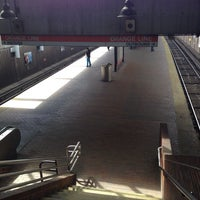 Photo taken at MBTA Roxbury Crossing Station by Totsaporn I. on 3/17/2014