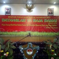 Photo taken at Kementerian Pertahanan RI by Gregorius A. on 1/18/2014