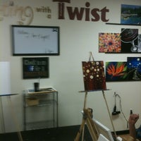 Photo taken at Painting with a Twist by Kista on 11/13/2012