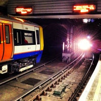 Photo taken at Wapping London Overground Station by Chris E. on 8/18/2013