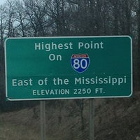 Photo taken at Highest Point East of the Mississippi on I-80 by Nancy on 4/15/2013