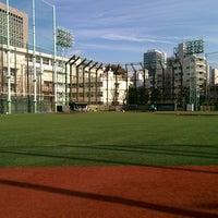 Photo taken at 青山運動場 野球場 by HiRO on 2/7/2015