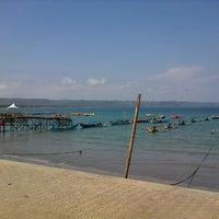 Photo taken at Pantai Pangandaran by Gepe on 9/15/2012