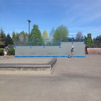 Photo taken at Tualatin Hills Skate Park by Elliot C. on 4/29/2014