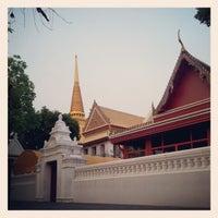 Photo taken at Wat Bowon Niwet by Thanarach S. on 2/18/2013