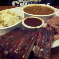 Photo taken at Back Forty Texas BBQ Roadhouse & Saloon by Leslie D. on 10/27/2012
