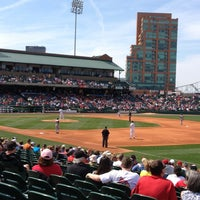 Photo taken at Louisville Slugger Field by Lori on 4/6/2013