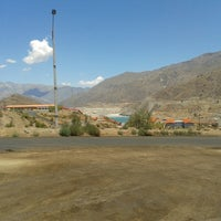 Photo taken at Mina Los pelambres by Eliette C. on 11/20/2013
