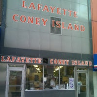 Photo taken at Lafayette Coney Island by Stephanie W. on 7/19/2013