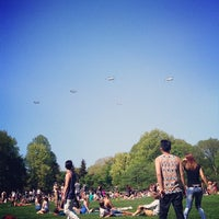 Photo taken at Sheep Meadow by Cassie K. on 5/12/2014
