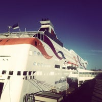 Photo taken at Frihamnsterminalen   Tallink - S:t Peter Line by Ulrich on 3/27/2013