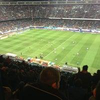 Photo taken at Estadio Vicente Calderón by Doraemon on 1/13/2013
