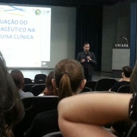 Photo taken at Centro Universitário de Araraquara (UNIARA) by Júlia H. on 11/14/2012