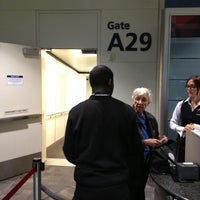 Photo taken at Gate A29 by Ken G. on 10/28/2012