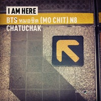 Photo taken at BTS Mo Chit (N8) by Chawalit K. on 3/1/2013