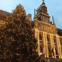 Photo taken at Antwerp City Hall by Dirk V. on 12/16/2012