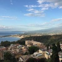 Photo taken at Mediterranee Hotel Taormina by Matthias K. on 9/21/2016