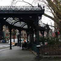 Photo taken at Pioneer Square Pergola by Beth N. on 2/20/2015