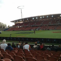 Photo taken at Waikato Stadium by Ben N. on 3/22/2013