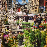 Photo taken at Union Square Greenmarket by Tam . on 4/17/2013