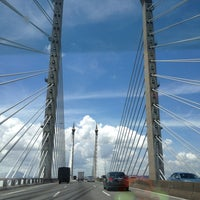 Photo taken at Penang Bridge by Z Z. on 5/31/2013