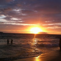 Photo taken at Little Beach by Stacie on 7/22/2013