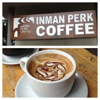 Photo taken at Inman Perk Coffee by Brittney N. on 7/6/2013