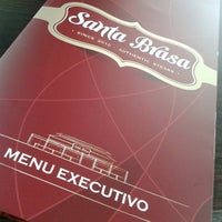 Photo taken at Santa Brasa Authentic Steaks by Maylon A. on 10/23/2013