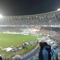Photo taken at Estadio Juan Domingo Perón (Racing Club) by Julian R. on 10/22/2012