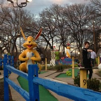 Photo taken at Peter Pan Mini Golf by Ava on 2/18/2013
