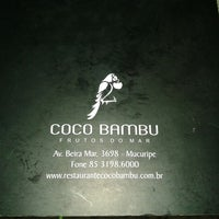 Photo taken at Coco Bambu Frutos do Mar by Denise V. on 2/15/2013