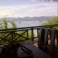 Photo taken at Trawangan Beach Cottages Bar & Restaurant by Irene S. on 4/26/2013