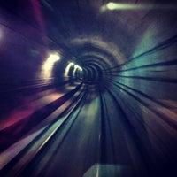 Photo taken at Kongens Nytorv St. (Metro) by Marius E. on 10/16/2012