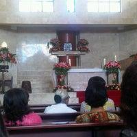 Photo taken at Gereja Katolik Salib Suci by Budiadji W. on 3/31/2013